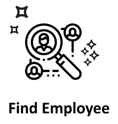 Find Employee Line  isolated Vector Icon Editable