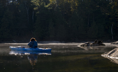 皮划艇的清晨