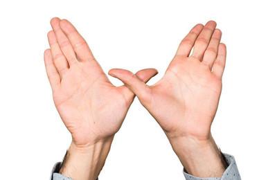 男人做免费的姿态的手
