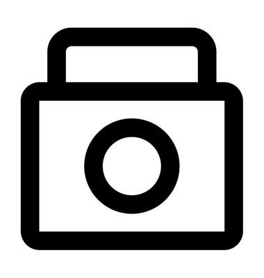 摄影粗线图标