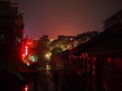 夜间大气凤凰