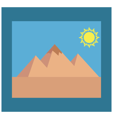 Photo, Picture Isolated Vector Icon