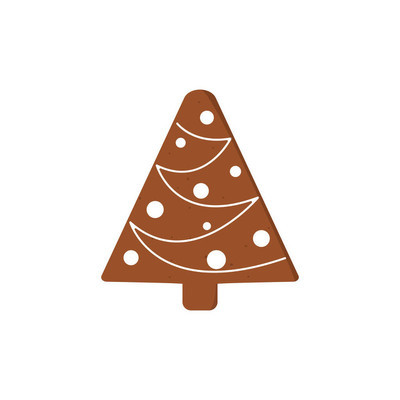 Gingerbread Christmas Cookies. funny decorated gingerbread figure
