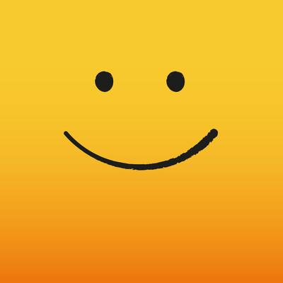 10月6日世界微笑日横幅。在黄色背景上眨眼微笑和字母的世界微笑日。向量例证
