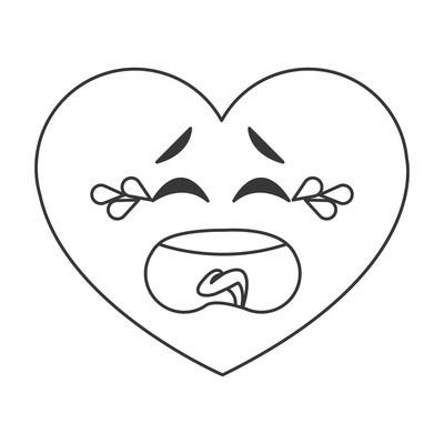 哭泣的心卡通图标