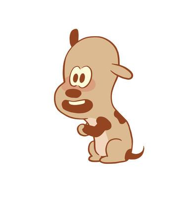 Funny little dog begging something, color image