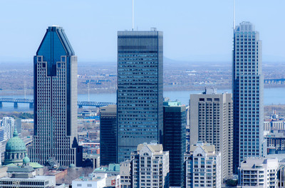 蒙特利尔的摩天大楼的视图