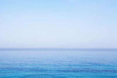 Bright blue sea water of  coast