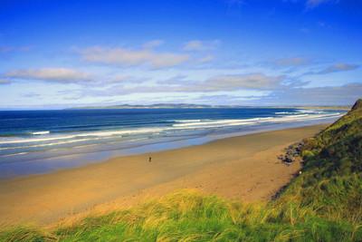在爱尔兰的海滩