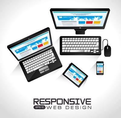 网页设计、 矢量图