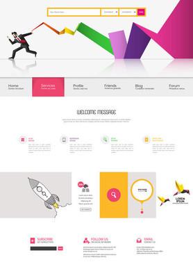 现代网站模板设计