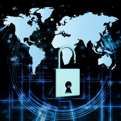 计算机安全的金融业务。安全编程连接。互联网