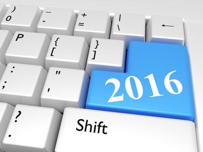 在键盘 2016年新的一年