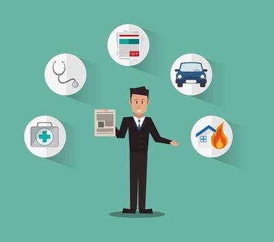 保险服务相关的图标图像