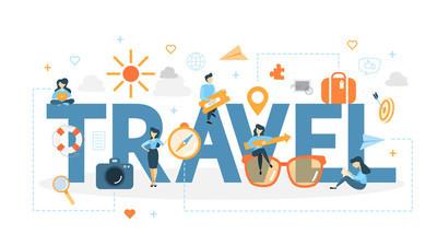 旅游概念图