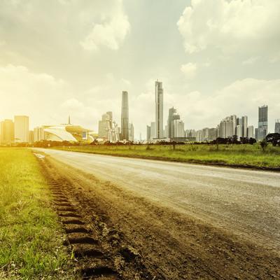 泥路和下新光摩天大楼