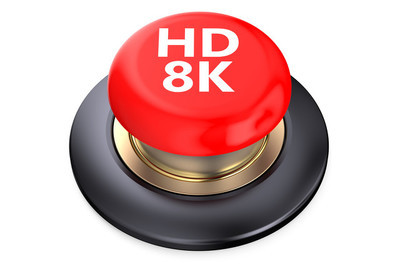 高清 8 k 红色按钮