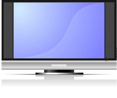 屏幕的等离子或液晶电视机