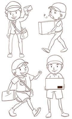 邮递员的平面图
