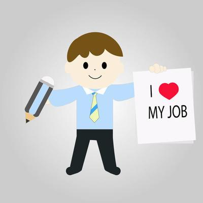 "Concept of ""I love my job"""