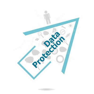 文本数据保护。安全概念。数据保护和 inforgaphic 设置的安全元素