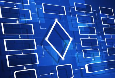 蓝色工艺流程图图