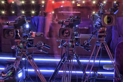 电视专业数码摄像机在音乐厅