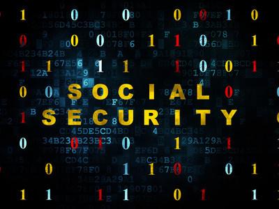 安全概念: 社会保障数字背景