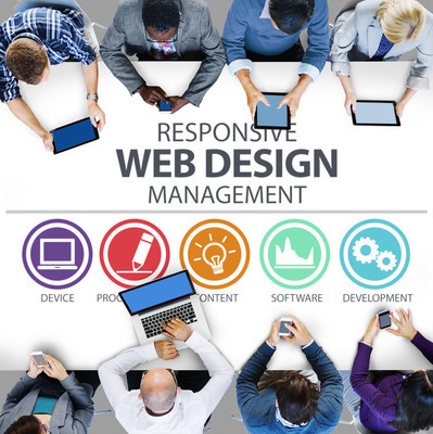 Businesspeople and Responsive Web Design Concept