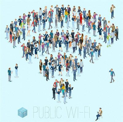 公众 wifi 人群标志