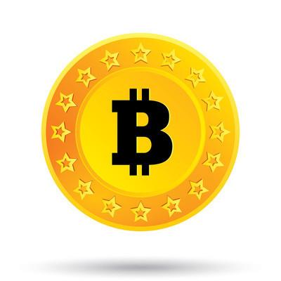比特币的图标。加密的币种。p2p