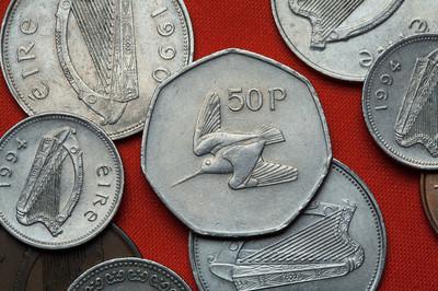 爱尔兰的硬币。伍德考克