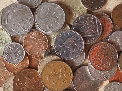 英镑硬币图片