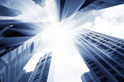现代城市的摩天大楼