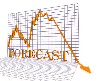 预测图负表示经济低迷楼 3d 效果图