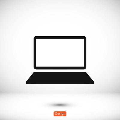 Laptop flat style  icon