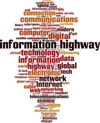 Information highway word cloud