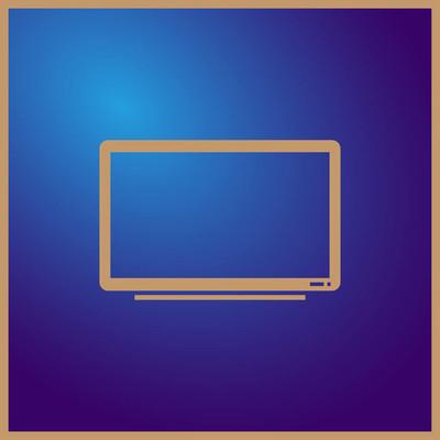 电视机矢量图标