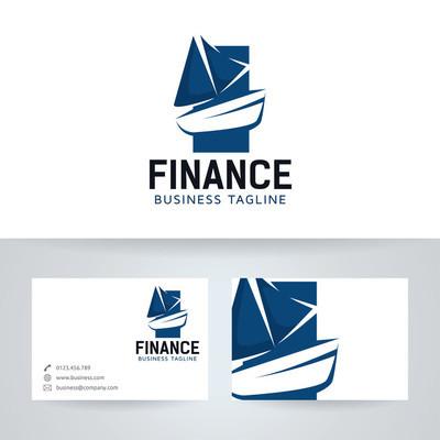 小船金融矢量 logo 与名片模板