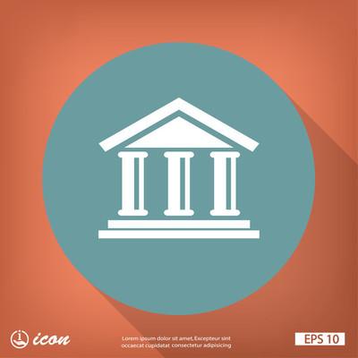 银行平面设计图标