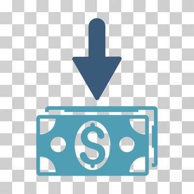 获取美元纸币矢量图标