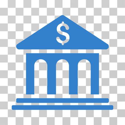 银行大楼矢量图标
