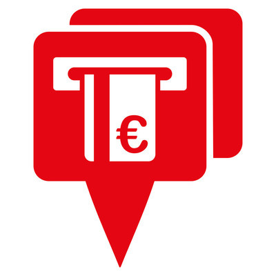 Euro Atm Pointers Flat Vector Icon