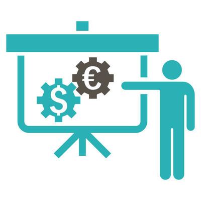 国际银行项目平面矢量图标