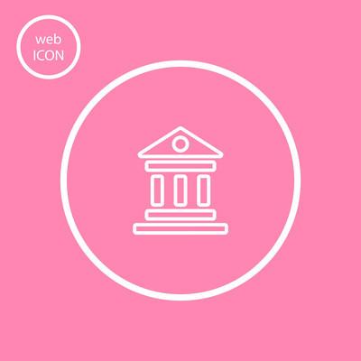 银行符号矢量图