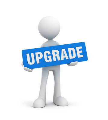 Holding upgrade concept  3d illustration