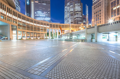 在东京市中心写字楼用地板