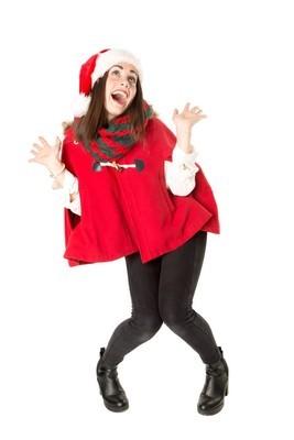 在圣诞节,跳舞的女孩