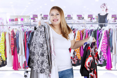 胖女人买衣服中的精品