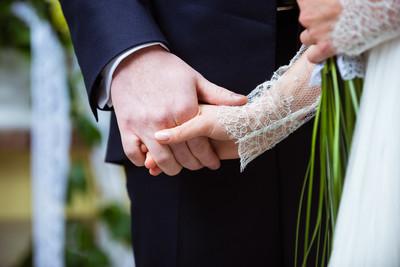 新娘和新郎的婚礼